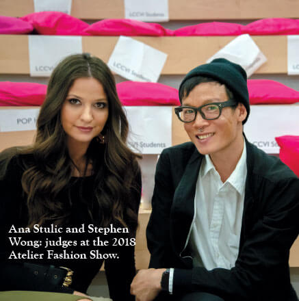Ana Stulic and Stephen Wong: Judges at the 2018 Atelier Fashion Show